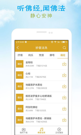 佛教音乐大悲咒心经王菲软件截图3