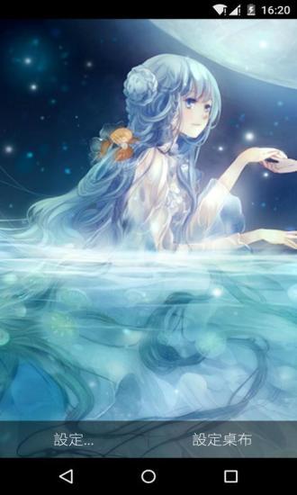 月亮日系少女梦象壁纸软件截图2