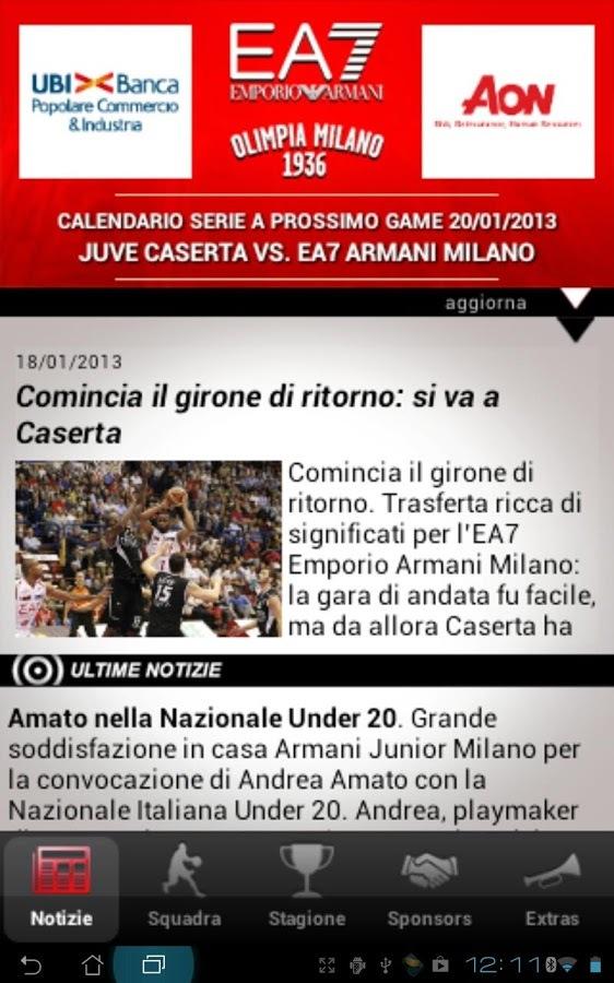 EA7 Olimpia Milano软件截图0