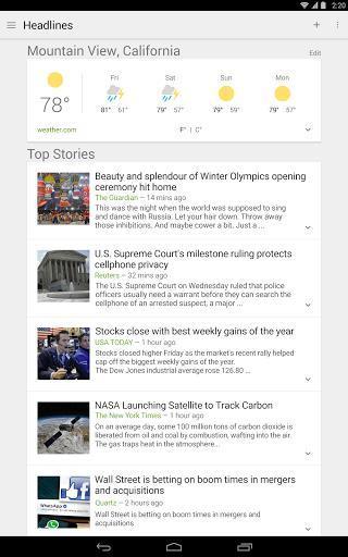 谷歌新闻和天气软件截图0